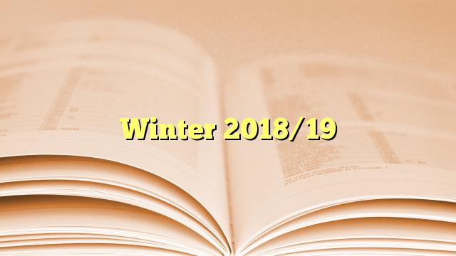 Winter 2018/19